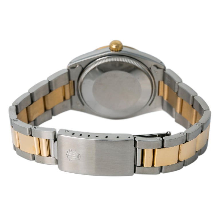 Rolex Oyster Perpetual 1038 Automatic Unisex Watch Two-Tone 18k YG For Sale 1