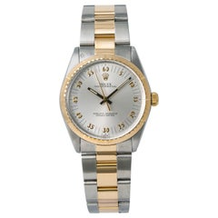 Rolex Oyster Perpetual 1038 Race Special Dial Unisex Watch Two-Tone 18 Karat YG