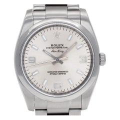 Rolex Oyster Perpetual 114200, White Dial, Certified and Warranty