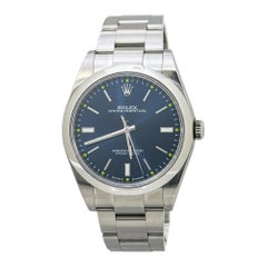 Rolex Oyster Perpetual 114300 Blue Dial Mens Automatic with Box & Papers