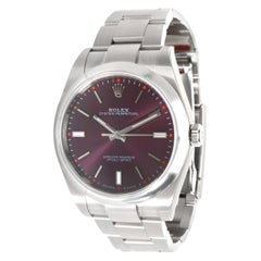 Rolex Oyster Perpetual 114300 Grape Dial Men's Watch in Stainless Steel