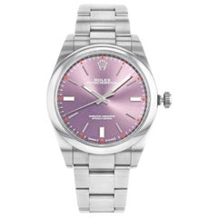 Rolex Oyster Perpetual 114300 Grape Dial Steel Automatic Men's Watch