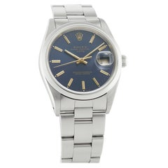 Rolex Oyster Perpetual 115200, Blue Dial, Certified and Warranty