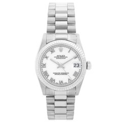 Rolex  18 Karat White Gold Midsize President  Watch 68279