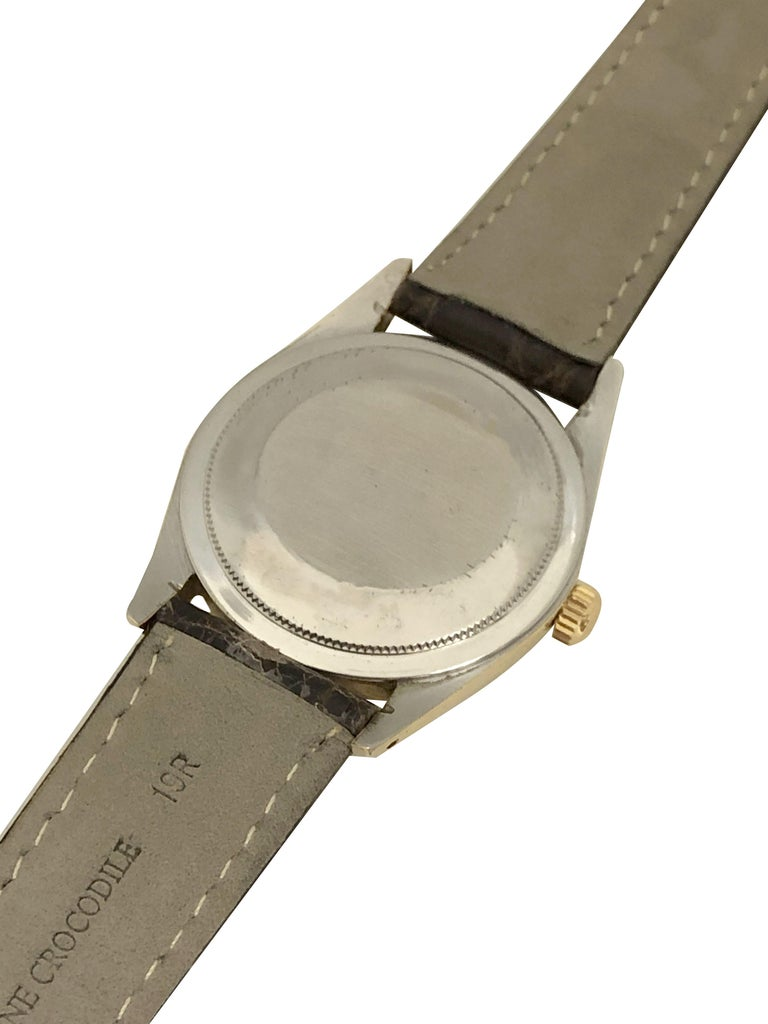 Women's or Men's Rolex Oyster Perpetual 1980 Ref 1014 Gold Shell Automatic Wristwatch
