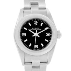 Rolex Oyster Perpetual 24 Nondate Black Dial Ladies Watch 76080