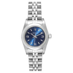Rolex Oyster Perpetual 24 Nondate Blue Dial Ladies Watch 76080