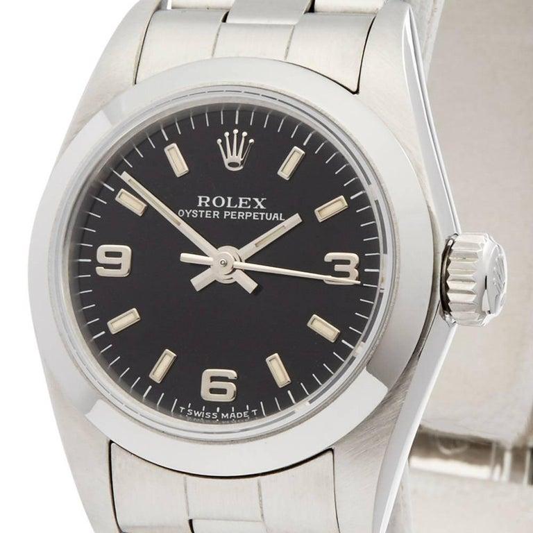 Rolex Oyster Perpetual 26 61780 In Excellent Condition In Bishop's Stortford, Hertfordshire