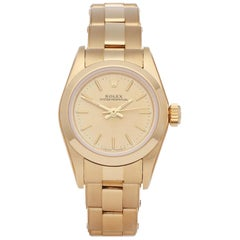 Rolex Oyster Perpetual 26 67188 Ladies Yellow Gold NOS Watch