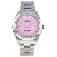 Rolex Oyster Perpetual 277200 Candy Pink Dial Automatic Lady Watch with B&P