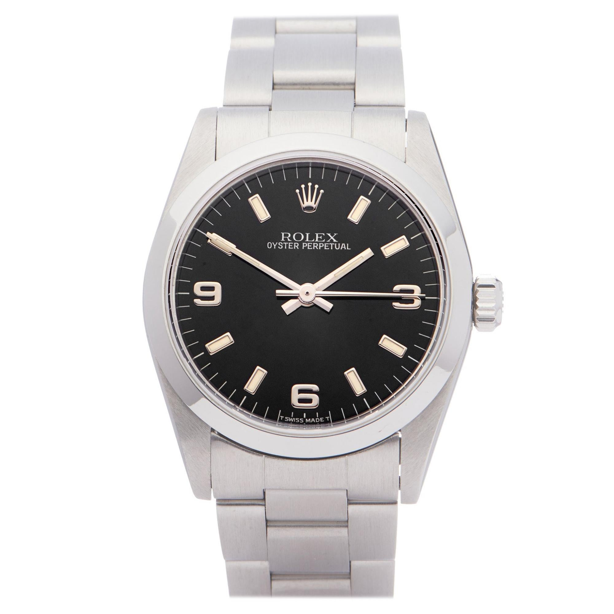 Rolex Oyster Perpetual 31 67480 Ladies Stainless Steel 0 Watch