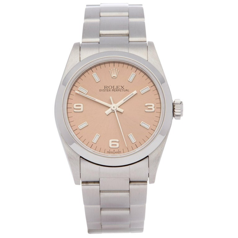 Rolex Oyster Perpetual 31 77080 Ladies Stainless Steel 0 Watch