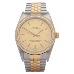 Rolex Oyster Perpetual 34 14233 Unisex Yellow Gold & Stainless Steel Watch