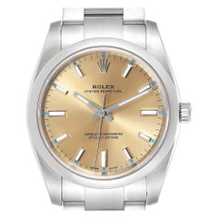 Rolex Oyster Perpetual 34 White Grape Dial Steel Men's Watch 114200