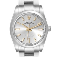 Rolex Oyster Perpetual Silver Dial Steel Mens Watch 124200 Unworn