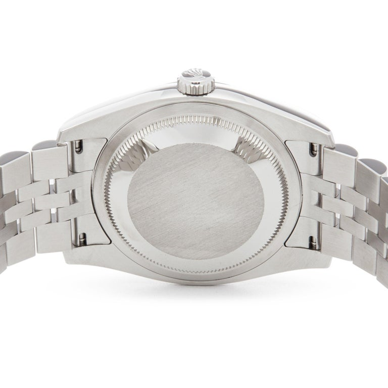 Rolex Oyster Perpetual 36 116234 Men's Stainless Steel Diamond Watch For Sale 2