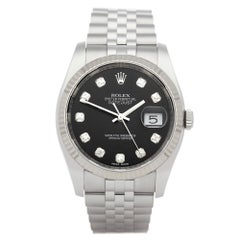 Rolex Oyster Perpetual 36 116234 Men's Stainless Steel Diamond Watch