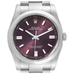 Rolex Oyster Perpetual 36 Red Grape Dial Men's Watch 116000