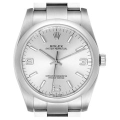 Rolex Oyster Perpetual 36 Silver Dial Steel Mens Watch 116000