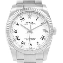 Rolex Oyster Perpetual 36 Steel White Gold Diamond Watch 116034