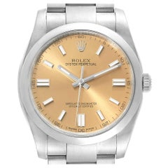 Rolex Oyster Perpetual 36 White Grape Dial Men's Watch 116000