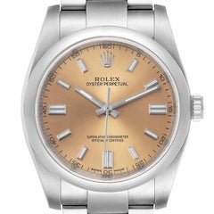 Rolex Oyster Perpetual 36 White Grape Dial Steel Mens Watch 116000