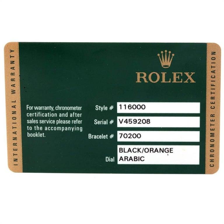 Rolex Oyster Perpetual 36 White Harley Dial Men's Watch 116000 Unworn 7