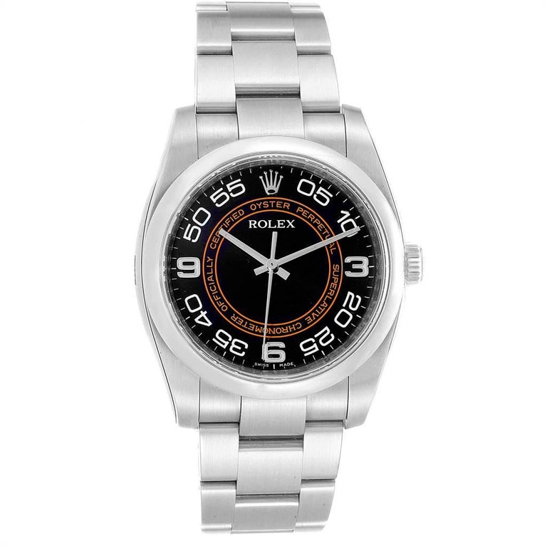 Rolex Oyster Perpetual 36 White Harley Dial Men's Watch 116000 Unworn In Excellent Condition In Atlanta, GA
