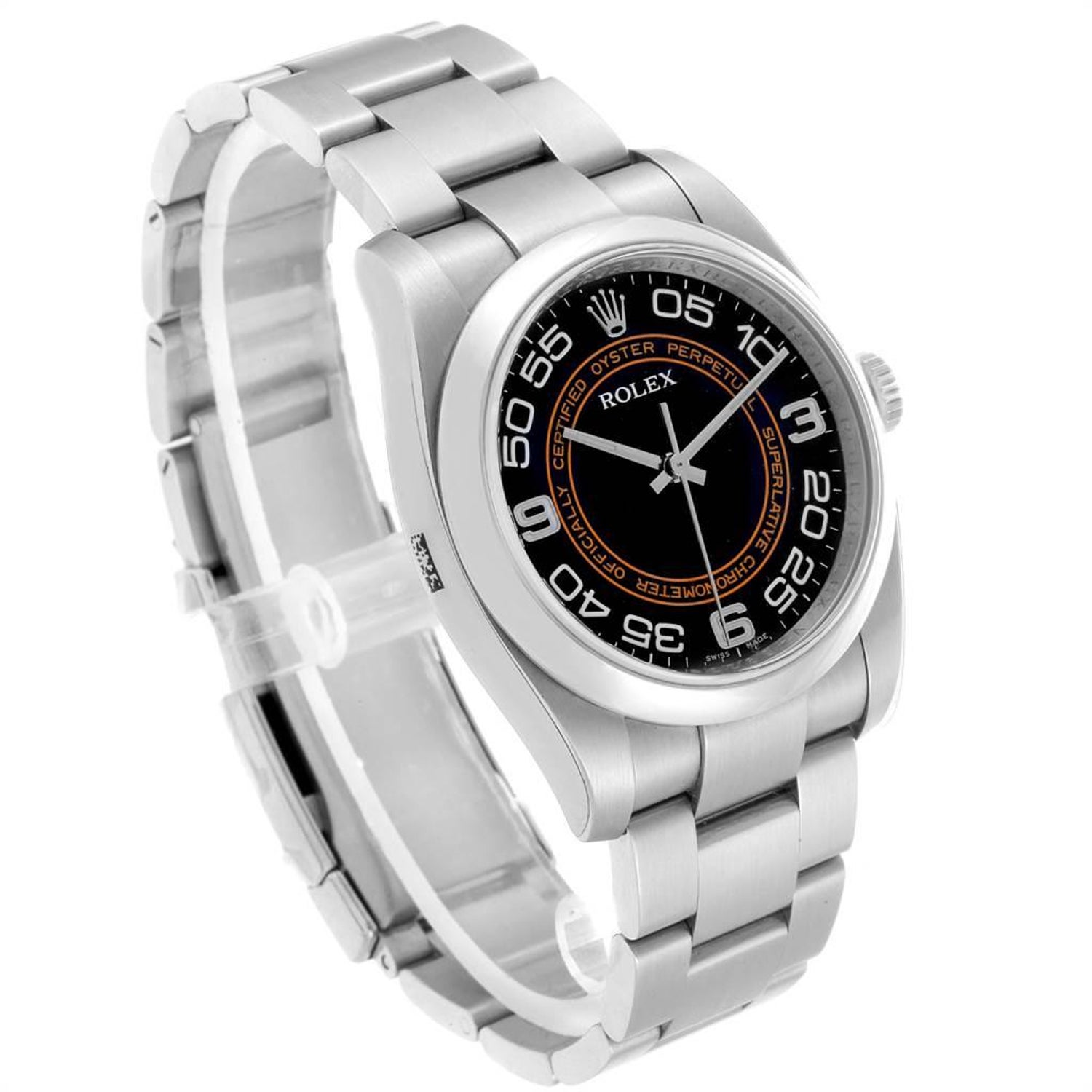 9971d174a6a Rolex Oyster Perpetual 36 White Harley Dial Men's Watch 116000 Unworn For  Sale at 1stdibs