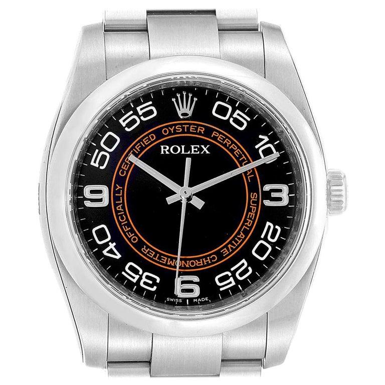 Rolex Oyster Perpetual 36 White Harley Dial Men's Watch 116000 Unworn