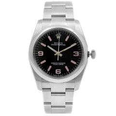 Rolex Oyster Perpetual Steel Black Dial Automatic Unisex Watch 116000