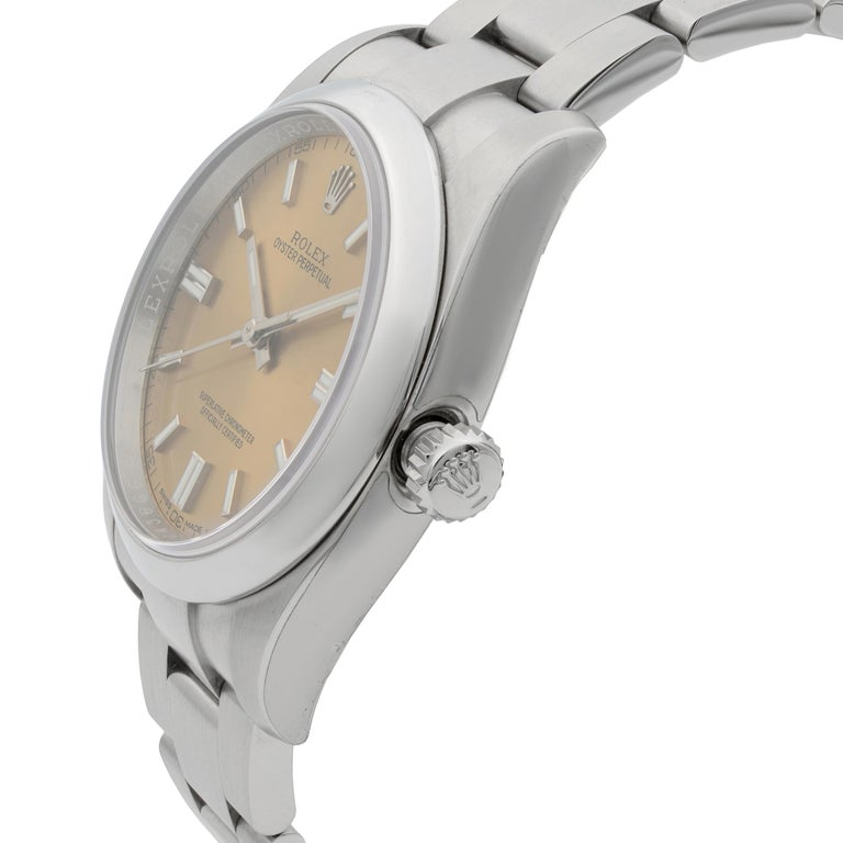 Rolex Oyster Perpetual Steel White Grape Dial Men's Watch 116000WGSO In New Condition For Sale In New York, NY