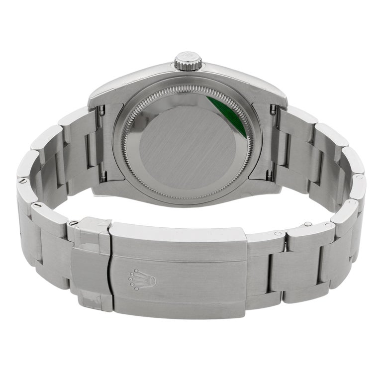 Rolex Oyster Perpetual Steel White Grape Dial Men's Watch 116000WGSO For Sale 3