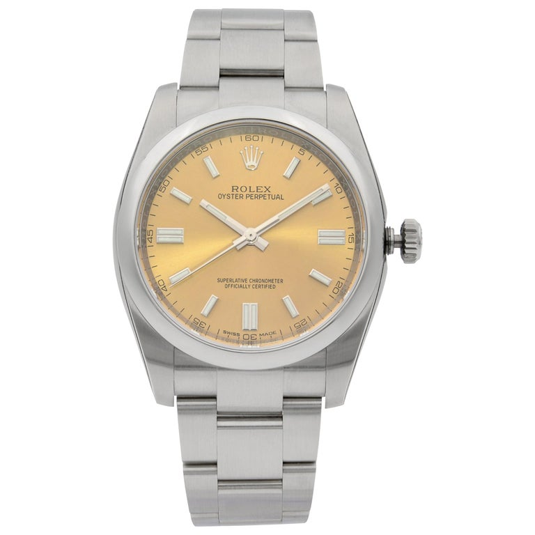 Rolex Oyster Perpetual Steel White Grape Dial Men's Watch 116000WGSO For Sale