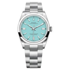 Rolex Oyster Perpetual Turquoise Blue Tiffany Dial Men's Watch 126000-0006