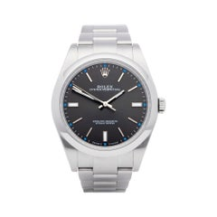 Rolex Oyster Perpetual 39 Dark Rhodium Dial Stainless Steel 114300