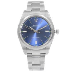 Rolex Oyster Perpetual 39 Steel Blue Dial Automatic Men's Watch 114300-0003