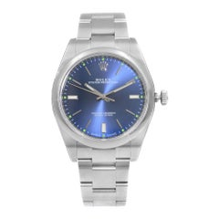 Rolex Oyster Perpetual 39 Steel Blue Dial Automatic Men's Watch 114300BLSO