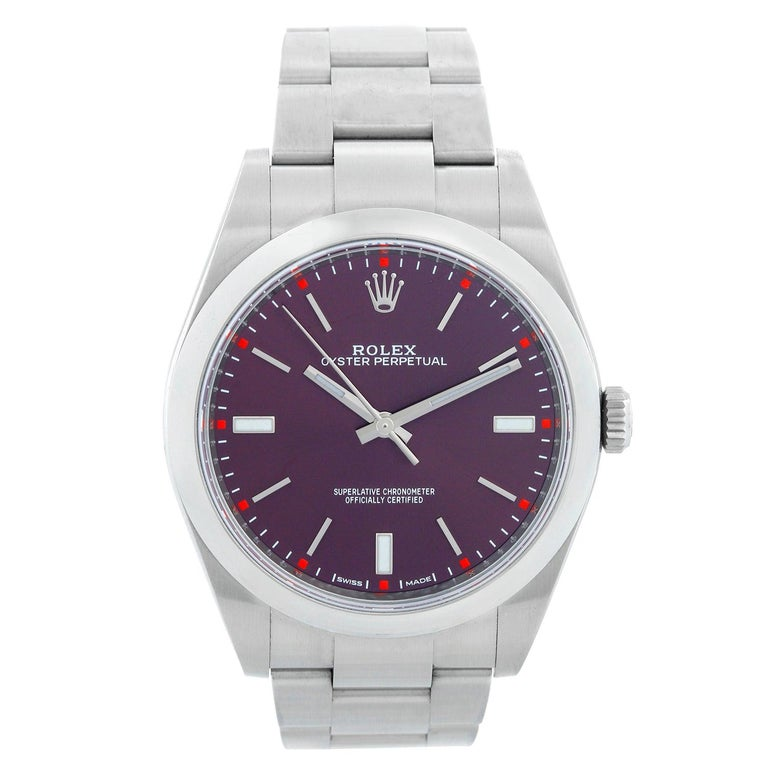 "Rolex Oyster Perpetual 39mm  ""Red Grape"" Watch For Sale"