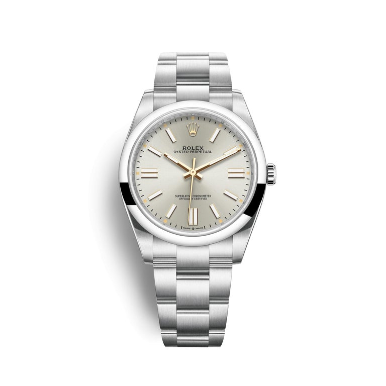 Women's or Men's Rolex Oyster Perpetual 41 Silver Dial Men's Watch 124300-0001 For Sale