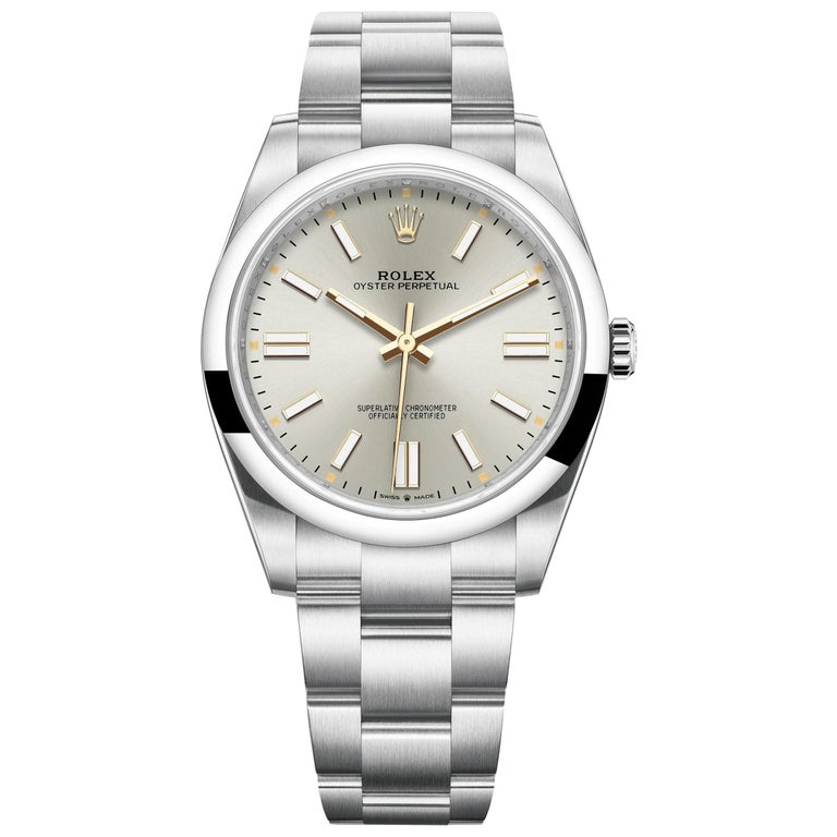Rolex Oyster Perpetual 41 Silver Dial Men's Watch 124300-0001 For Sale