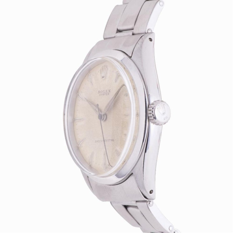 Contemporary Rolex Oyster Perpetual 6480, Gold Dial, Certified and Warranty For Sale