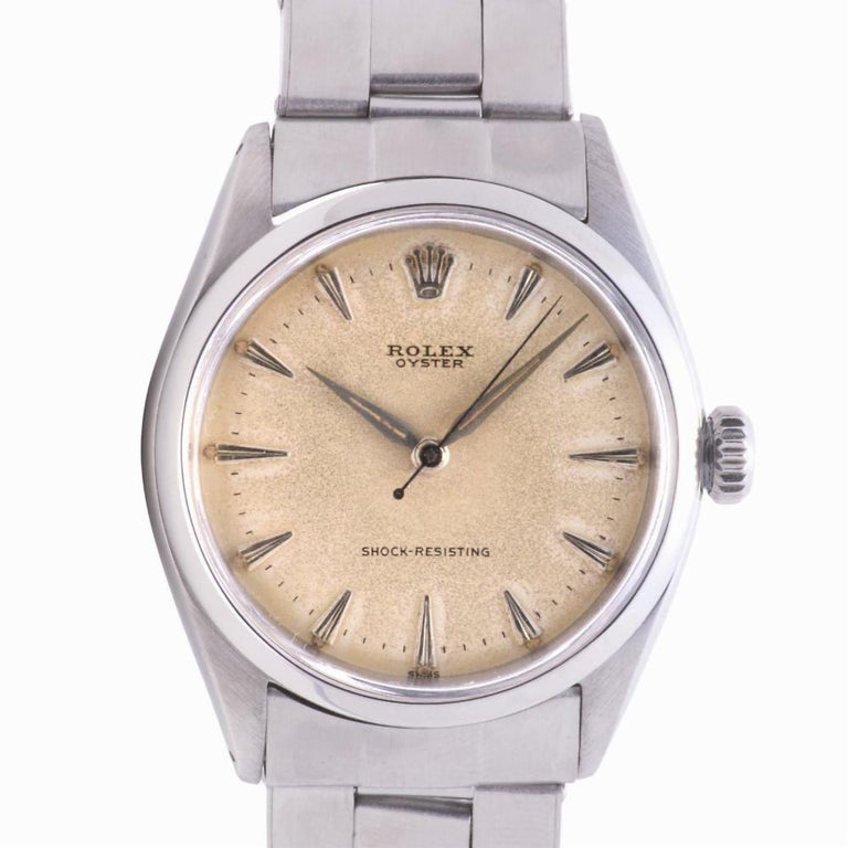 Men's Rolex Oyster Perpetual 6480, Gold Dial, Certified and Warranty For Sale