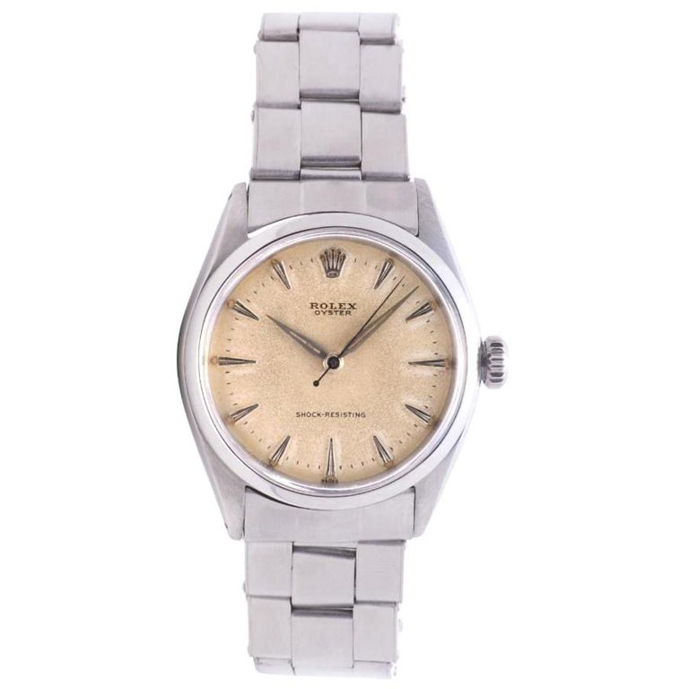 Rolex Oyster Perpetual 6480, Gold Dial, Certified and Warranty For Sale