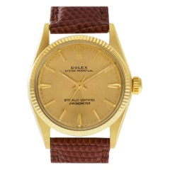 Rolex Oyster Perpetual 6551, Gold Dial, Certified and Warranty