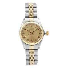 Rolex Oyster Perpetual 6619 14 Karat Yellow Gold Steel Automatic Ladies Watch