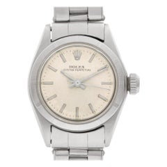 Rolex Oyster Perpetual 6623, Silver Dial, Certified and Warranty