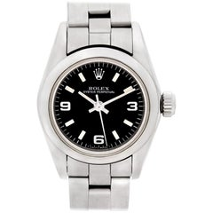 Rolex Oyster Perpetual 67180, Black Dial, Certified and Warranty