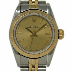 Rolex Oyster Perpetual 67193 Stainless Steel Gold 1987 2 Year Warranty #1933