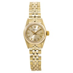 Rolex Oyster Perpetual 67197 18kt Yellow Gold Jubilee Lady's Watch